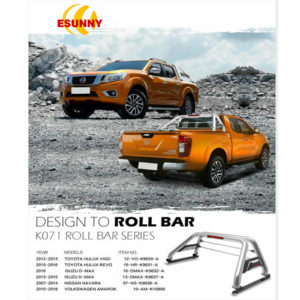 Universal Stainless Steel Roll Bar