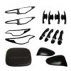 ABS Exterior Matte Black Cover Trim Kits For Toyota Fortuner 2016-2017