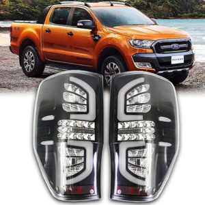 Ford Ranger 2012-17 T6 Black Clear Led Tail Lamp