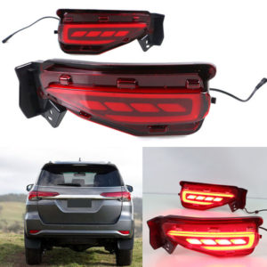 LED Red Reflector Brake & Light Bumber Toyota New Fortuner 2016 2017