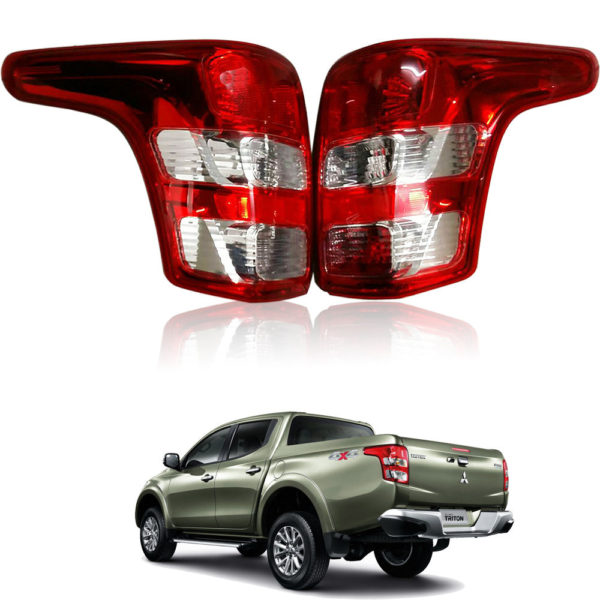 Mitsubishi Triton 2016 L200 4WD 2WD Tail Lamp Lights Rear Fog Red Pair