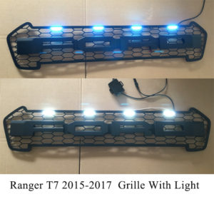 Ford Ranger T7 2015-2017 Grille With Ford Words (With LED/Without LED)