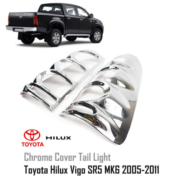Chrome Line Front Grill Cover Trim For Toyota Hilux Vigo Champ 2011 2013