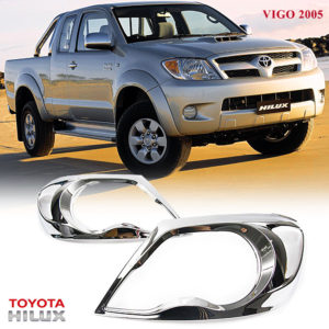 Chrome Front Headlight Lamp Cover Trim Toyota Hilux Pickup Vigo SR5 MK6 2005-11