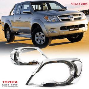 Chrome Front Headlight Lamp Cover Trim Toyota Hilux Pickup Vigo SR5 MK6 2005-11