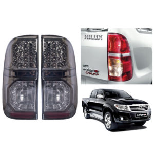 LED Smoked Lens Tail Light Lamp Fit Toyota Hilux MK7 Vigo Champ Pickup 2011-2014