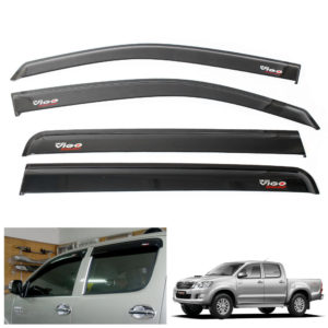 Window Visor Wind Sun Rain Guard Fit Toyota Hilux MK7 Vigo Champ 2011-2014