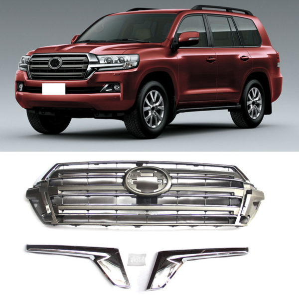 Land Cruiser LC200 2016 Chrome Front Hood Grille Vent Decorative Trim